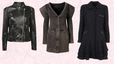 Dorothy Perkins AW 09 - Leather studded biker jacket £120 €190. Miss Selfridge Autumn/Winter 2009 Denim Zip Coat.  Black Winter Coat Marks & Spencer Autumn Winter 2009 - Due in store November 2009.
