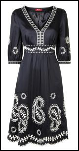 Monsoon Spring/Summer 2009 Main Range Black and White Empire Dress.