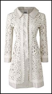 Alberta Ferretti white coatdress from Harvey Nichols.