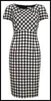 Marks & Spencer Spring Summer 2009 Black and White Gingham Dress - £45.