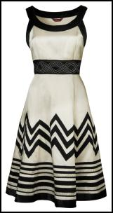 Monsoon Kristen Black and White Dress �115 / �194 Spring/Summer 2009 - February Monsoon Spring/Summer 2009 - Occasionwear.