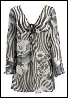 Animal black and white empire line kaftan tunic by BHS Spring Summer 09 Holiday Shop - Monochrome Kaftan £20.