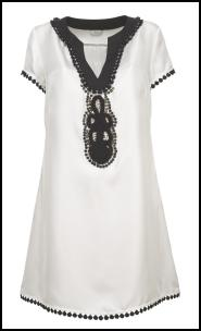 Right - Silk black and white dress T50 7410 in store April �79 Marks & Spencer Spring Summer 2009.