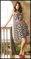 Tesco Spring Summer 2009 Cherokee Womenswear - Black and white check dress £14