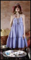Lavender tiered Hippy Sundress �89 and from Plumo.
