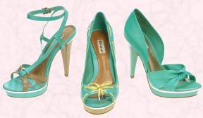 Aqua/Sea Green Shoes from Dune.