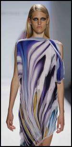 Fashion -trend -  Michael Angel dress in a wet-on wet watercolour material