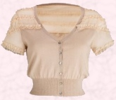 Ruffle insert cardigan �18 is from Littlewoods Direct Spring Summer 2009.