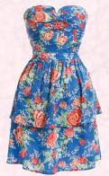 Miss Selfridge Floral Blue Prom Dress - �45/�68 - Miss Selfridge Spring Summer 2009.