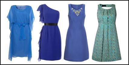 Fashion-era.com - Cool Blue Dresses - The 2009 Fashion Silhouette
