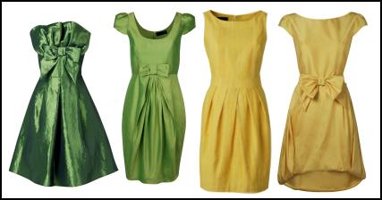 Citrus Yellow and Green Dresses - The 2009 Fashion Silhouette