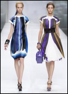 Celine dresses - Spring fashions 2009 - Dress Trends - Watercolour paintbox stripes.