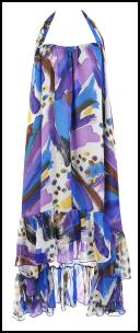 Multicoloured blue mix halter-neck maxi dress £29.99 Spring Summer 09 Dresses TK Maxx