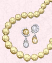 Jewels of Ocean South Sea Lemon Cream Pearls