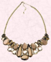 Byzantine Bronze Gem Necklace �25/�42 from Accessorize Spring Summer 2009.  Smoky quartz look.