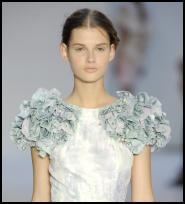 Erdem dress with Crystallized Swarovski decoration creating fuller shoulders.