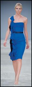 Aquascutum one-shoulder blue dress