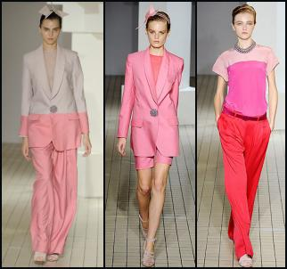 Spring 2009 - Colour blocking by Designer Richard Nicoll.