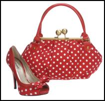 Dune - Lotty red and white spot shoes £85 and Motty red and white spotted handbag, £45 - Spring/Summer 2009 - Ladies & Accessories both Dune.
