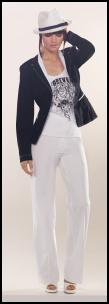 Nautical fashion trends 2009 - Blazer ₤170, Top UK ₤30, Trousers UK �105 - all Betty Barclay