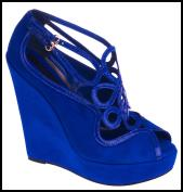 Nautical Looks - Blue art deco wedge shoe £64.99 River Island Clothing Co. Ltd SS09 Hero Pieces.