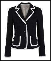 Phase Eight Spring Summer 2009 Navy Cotton White Trim Jacket £99.00.