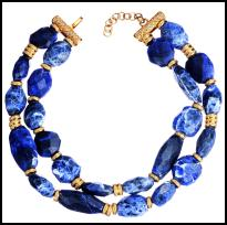 Dior Blue Necklace.