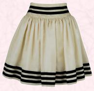 Dorothy Perkins Spring Summer 09 Cream border stripe full nautical skirt �28 �44.