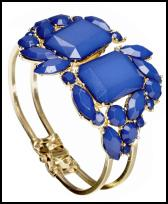 Wallis blue flower opaque stone clamp cuff �14 - Wallis Spring Summer 09 Jewellery.