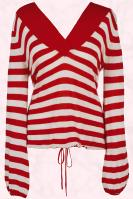 Matalan Red and White striped casual top - Et Vous cashmere blend striped jumper £18, SS09