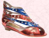 Office Spring Summer 2009 Ladies Collection - Red and blue stud 'Hold Me Back' Gladiator sandal �65.