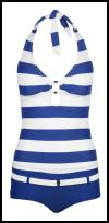 Florence & Fred blue and white stripe tankini �13.
