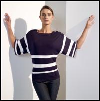 Wallis Exclusives SS09 Navy/white striped jumper £30/€45, Jeans £30/€45.