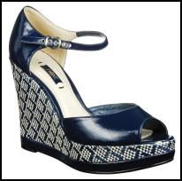 Nautical shoes trend - NEXT Spring Summer 2009 - Womenswear Woven Super Wedges £28/€42.