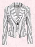 Stripe Blazer T59 1494J in store April �49.50 Marks & Spencer Spring Summer 2009.