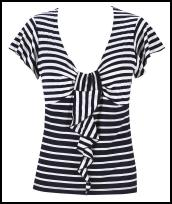 Per Una Spring Summer 2009 - Nautical stripe Top £23 from Marks & Spencer.