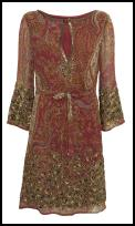 Paisley beaded tunic with world tribal decoration �77/�120 - Wallis Spring Summer 09