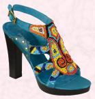 One-world tribal decoration on footwear - Cairo beaded platform �22 SS09 from Matalan