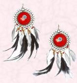 Navajo feather drop earrings �20. 30 Euros - Freedom at Topshop