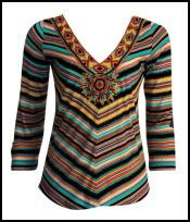 World Tribal Decoration - Navajo Influence - Striped Navajo top from NEXT