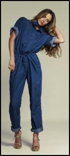 Asos.com denim blue jumsuit.