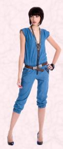 Fahsion Trend 2009 - Miss Selfridge Blue Jumpsuit.