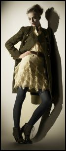 Khaki Military Coat �99 by Marks and Spencer.
