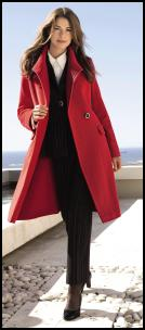Elégance AW10. Red Wool Coat