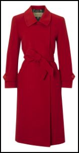 Paul Costello Red Tie Belt Coat at John Lewis.