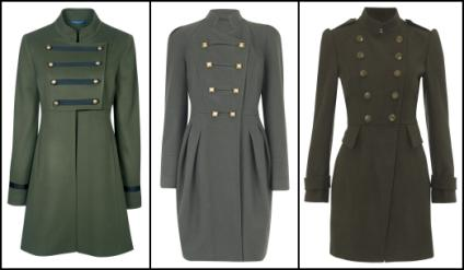 Women's Military Coats   Review Fashion Winter 2010/11