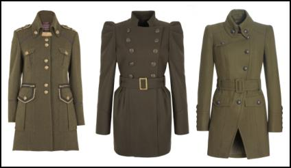 2010 Fashion Khaki Style Military Army Coats