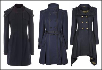 Women's Navy Military Coats