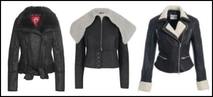 Black Aviator Jackets by Esprit, M&S, Reiss.