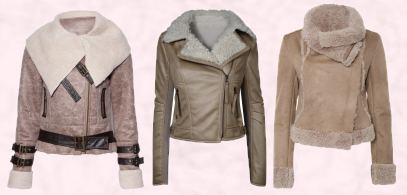 Cream Beige Fur Trim Flying Jacket